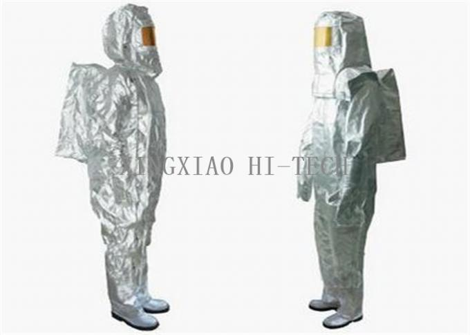 Flame Resistant Fire Protection Suit , Fire Fighting Protective Clothing