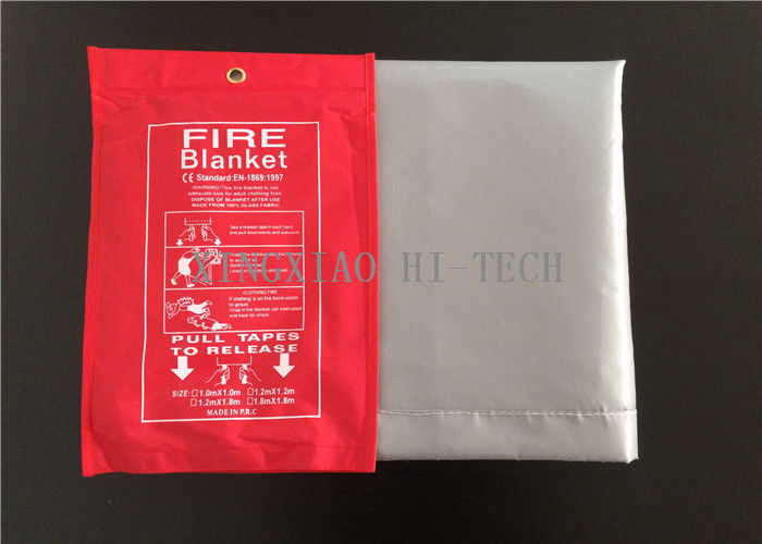 Silicone Coated Fiberglass Emergency Fire Blanket Flame Retardant 1000x1800mm